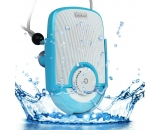 LuguLake Waterproof Shockproof Shower Speaker With Hands Free Mic Speaker and suction cup for Bathroom, Pool, Boat, Car, Beach