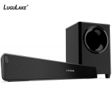LuguLake 2.1 Channel 140watt TV Soundbar System with Wireless Subwoofer, Home Theater Sound Bar Stereo Speaker W/ Bluetooth